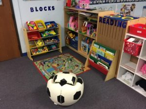 blocks and reading area